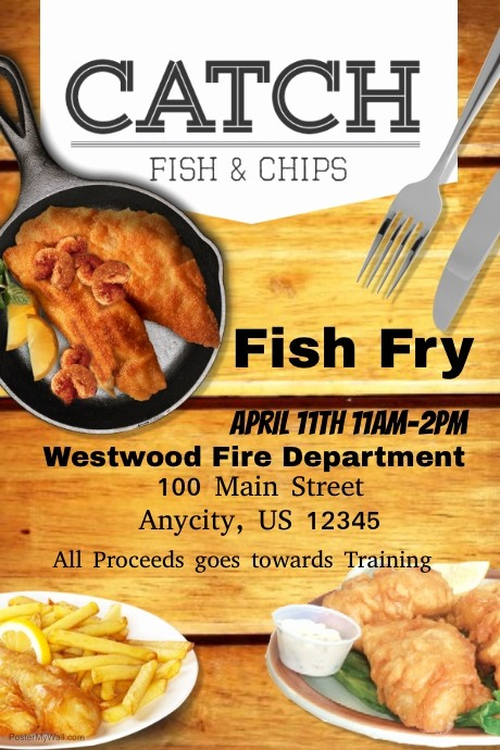 Free Fish Fry Flyer Templates Beautiful Fish Fry