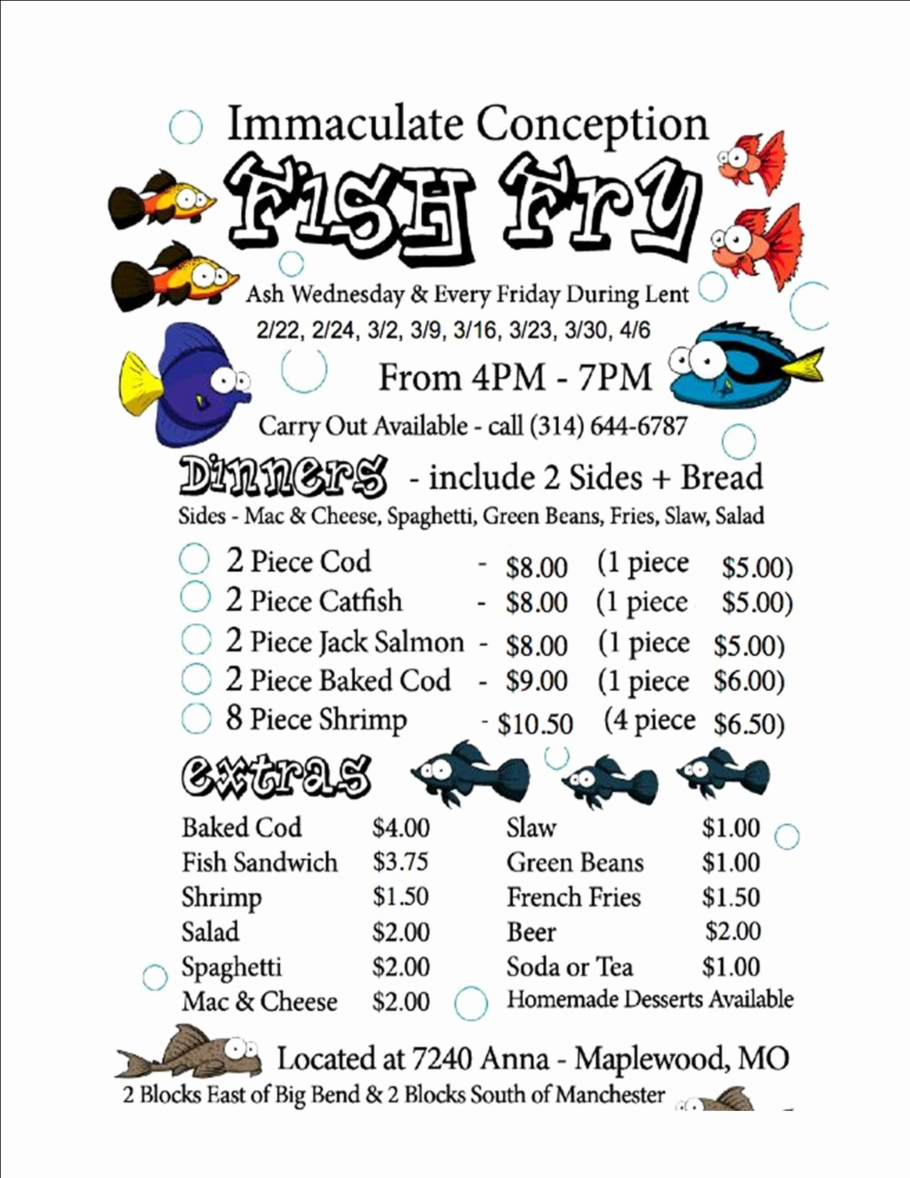 Free Fish Fry Flyer Templates Luxury Fish Fry Flyer 2012 – Immaculate Conception Parish