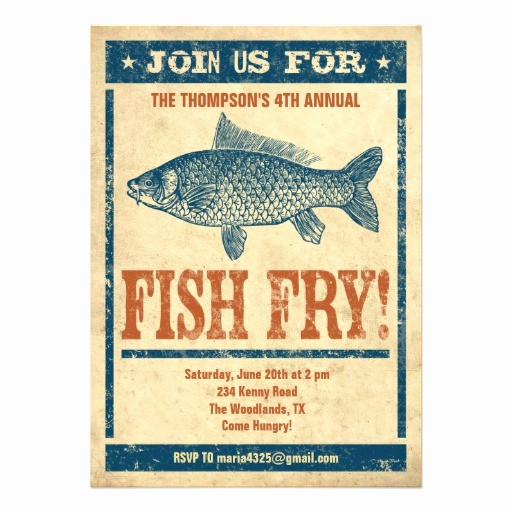 Free Fish Fry Flyer Templates Luxury Personalized Fish Fry Wording Invitations