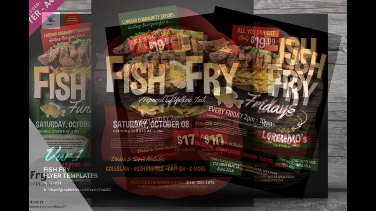 Free Fish Fry Flyer Templates New Fish Fry Flyer Templates