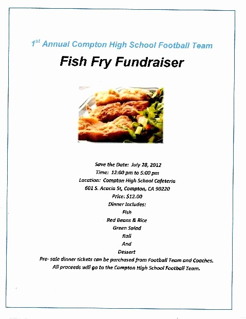 Free Fish Fry Flyer Templates New Pton High Alumni events News