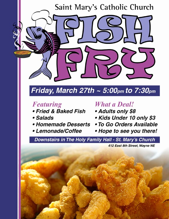 Free Fish Fry Flyer Templates Unique Free Fish Fry Flyer Template Yourweek 7615dbeca25e