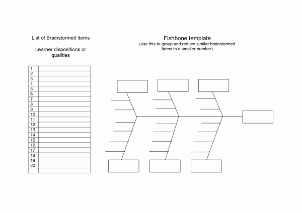 Free Fishbone Diagram Template Word Lovely ishikawa Diagram