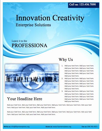 Free Flyer Template Microsoft Word Elegant Business Profile Flyer Template Free Flyer Templates