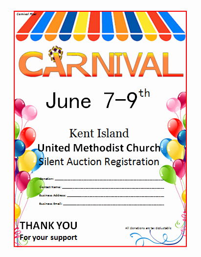 Free Flyers Templates Microsoft Word New Microsoft Word Carnival Flyer Template