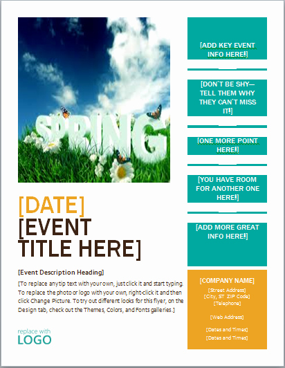 Free Flyers Templates Microsoft Word New Up Ing events Flyer Template Ms Word Editable Printable