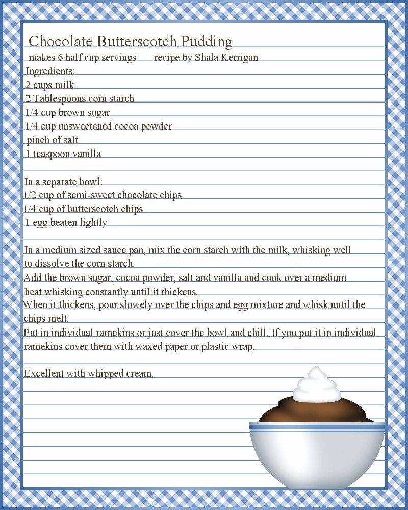 Free Full Page Recipe Template Awesome Full Page Recipe Templates Google Search