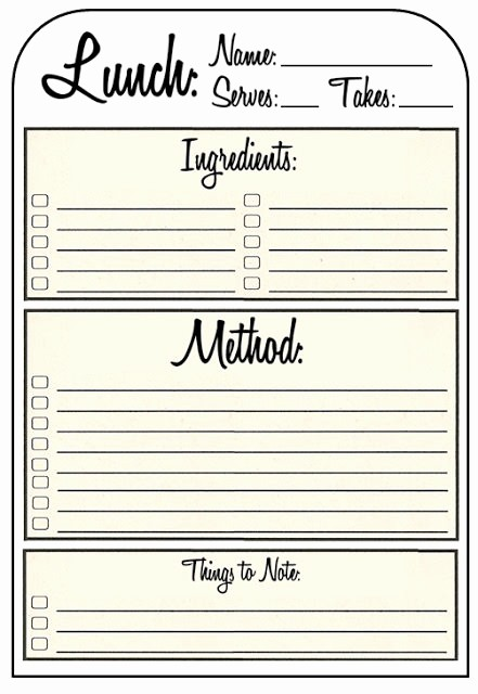 Free Full Page Recipe Template Beautiful 40 Recipe Card Template and Free Printables – Tip Junkie