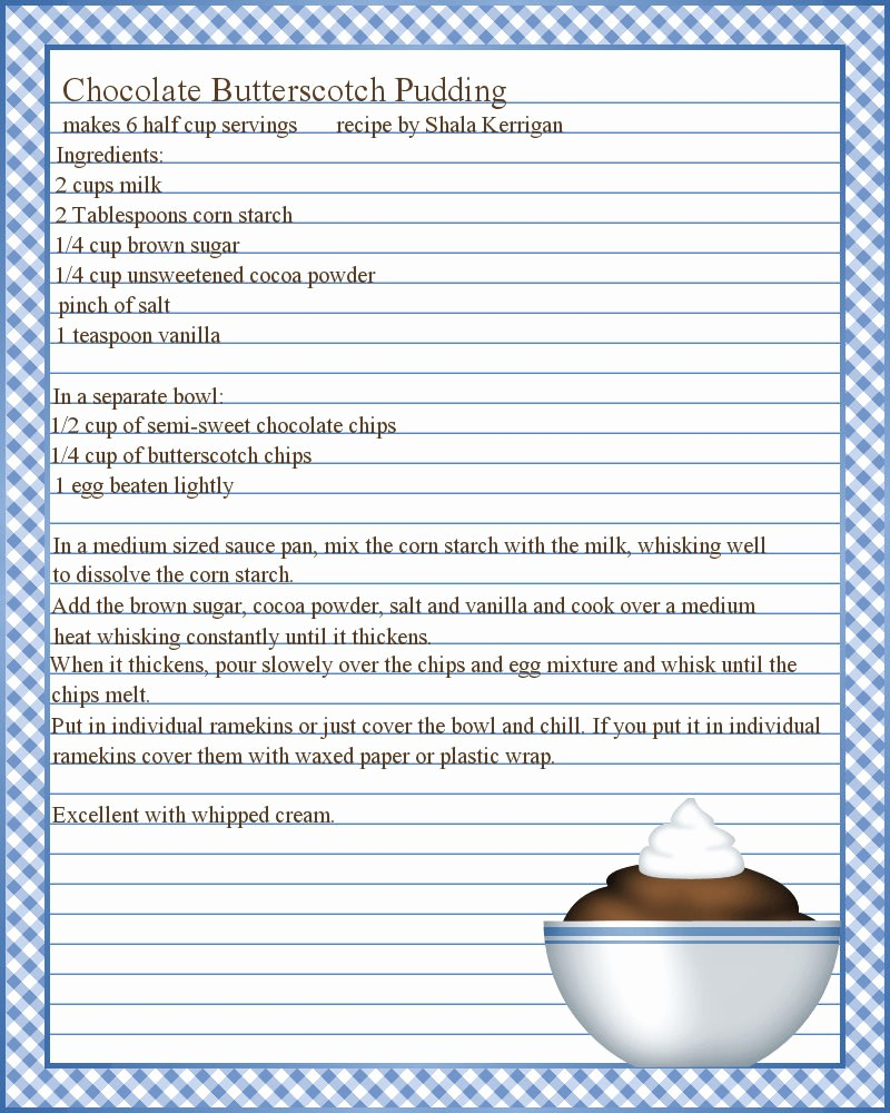 Free Full Page Recipe Template Beautiful Microsoft Word Recipe Template