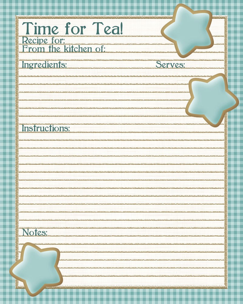 Free Full Page Recipe Template Best Of 5 Best Of Free Printable Full Page Recipe Templates