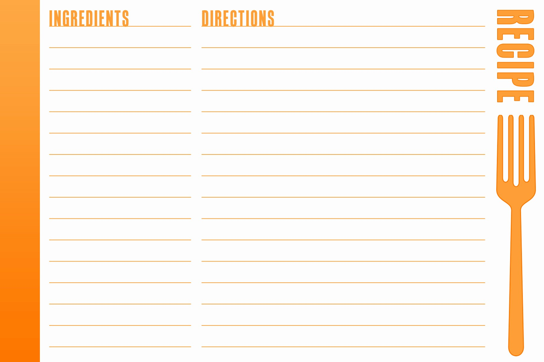 Free Full Page Recipe Template Fresh 8 Best Of Full Page Printable Recipe Cards Free