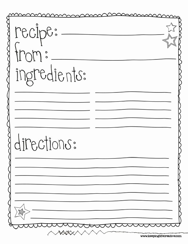 Free Full Page Recipe Template Inspirational Best 25 Recipe Templates Ideas On Pinterest
