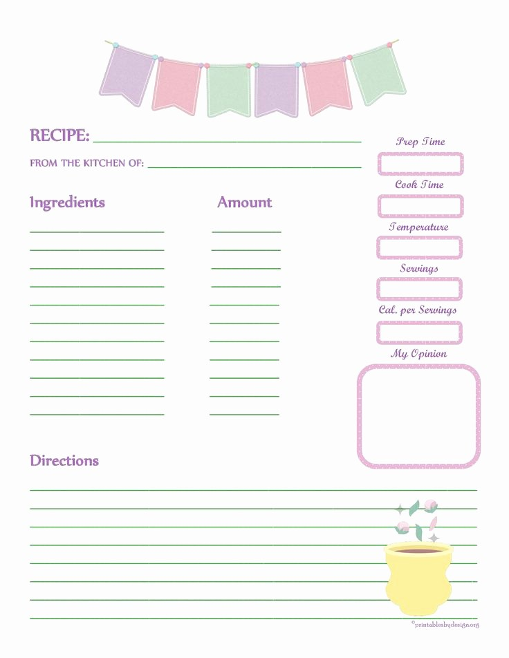 Free Full Page Recipe Template Lovely 1000 Images About Recipe Templates On Pinterest