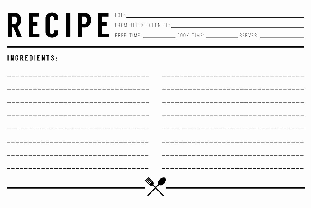 Free Full Page Recipe Template Lovely 13 Recipe Card Templates Excel Pdf formats