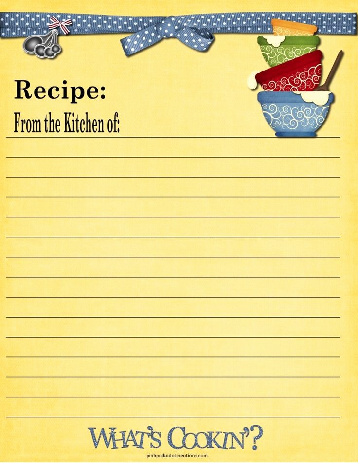 Free Full Page Recipe Template New 65 Best Images About Recipe Cards On Pinterest