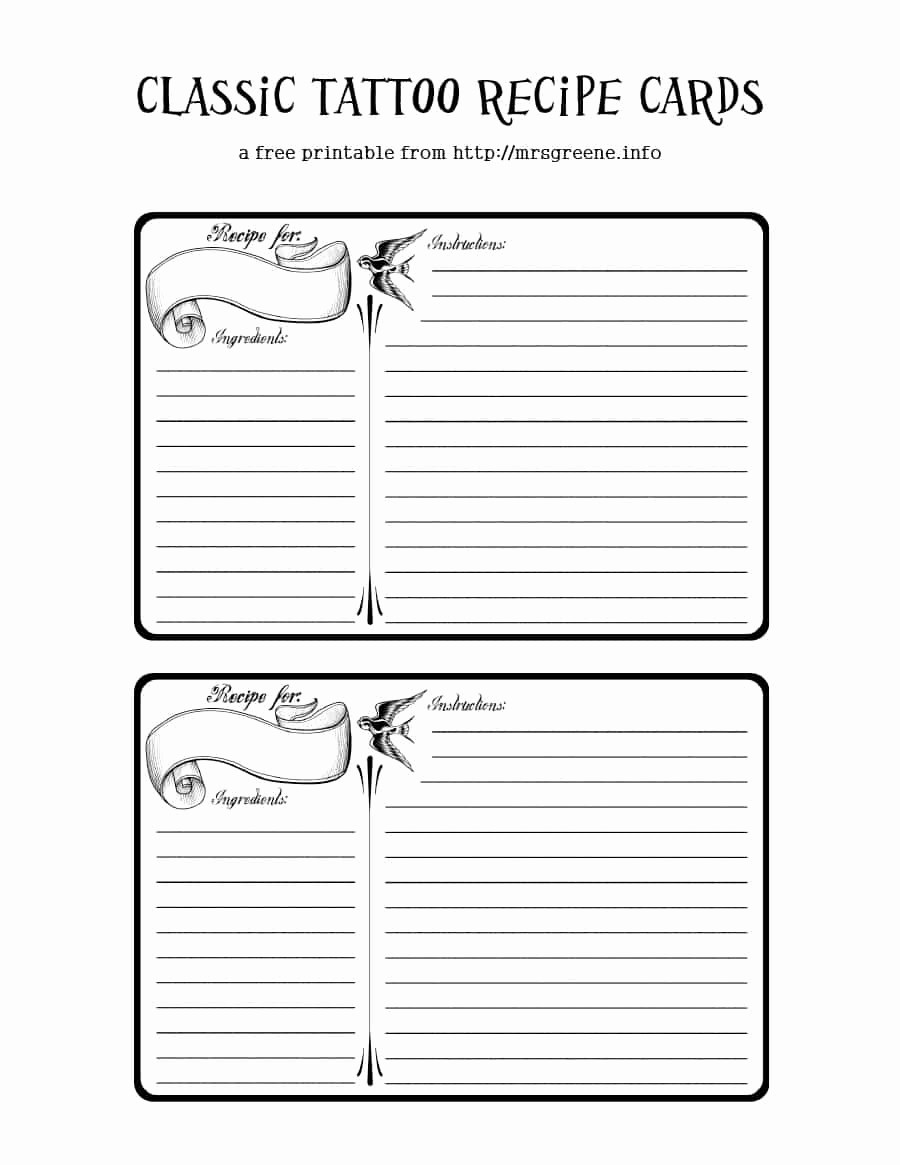 Free Full Page Recipe Templates New 44 Perfect Cookbook Templates [ Recipe Book & Recipe Cards]