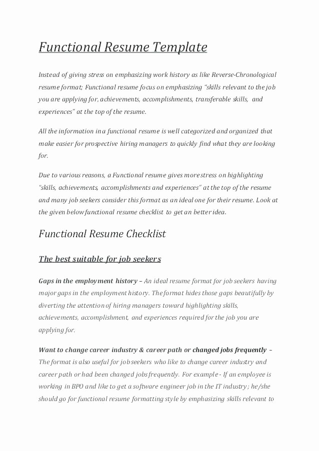 Free Functional Resume Template 2018 Awesome Resume Template Word Free Download 2018 Cover Letter