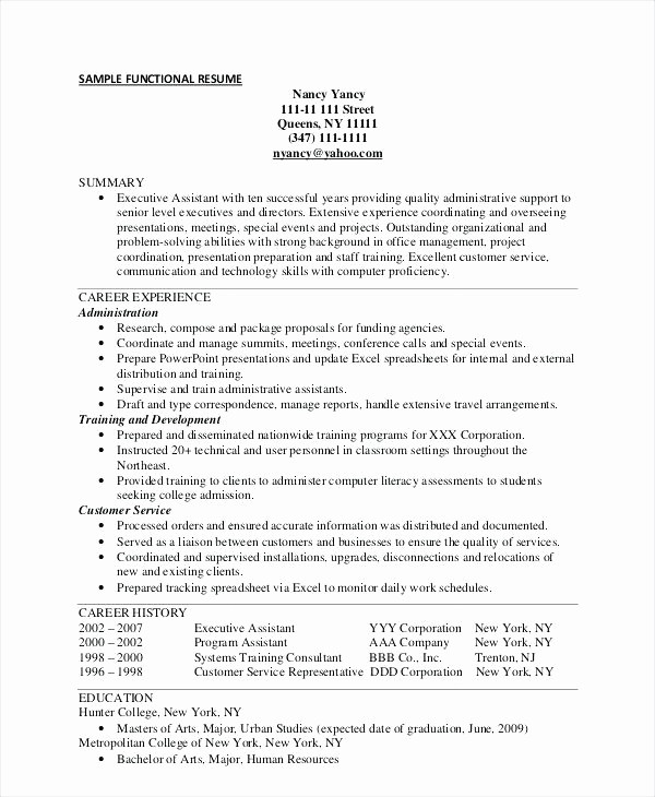 Free Functional Resume Template 2018 Elegant Functional Resume Template Functional Resume Template for