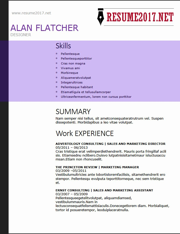 Free Functional Resume Template 2018 Elegant Resume format 2018 16 Latest Templates In Word