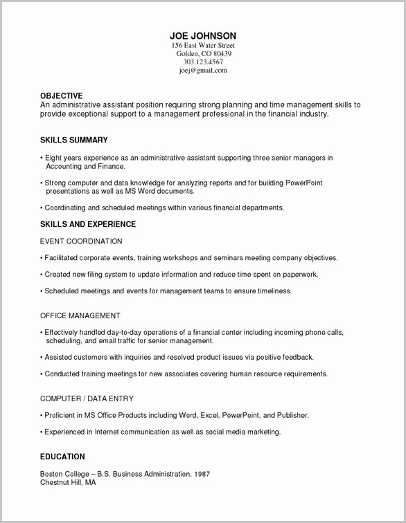 Free Functional Resume Template 2018 Inspirational Free Template A Functional Resume Resume Resume