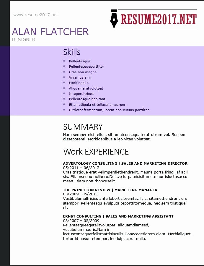 Free Functional Resume Template 2018 Lovely Example Resume Templates Ivy League Resume Template Resume