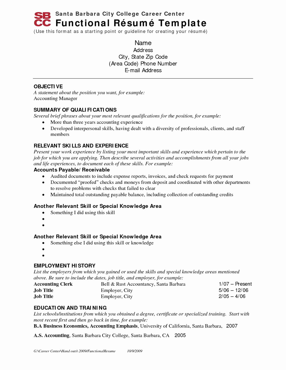 executive resume template free
