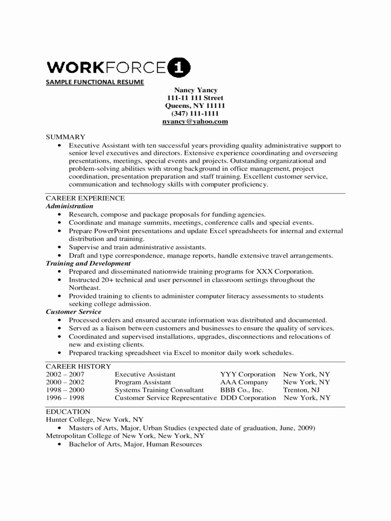 Free Functional Resume Template 2018 Unique 41 Good Functional Resume Template 2018 Xb E