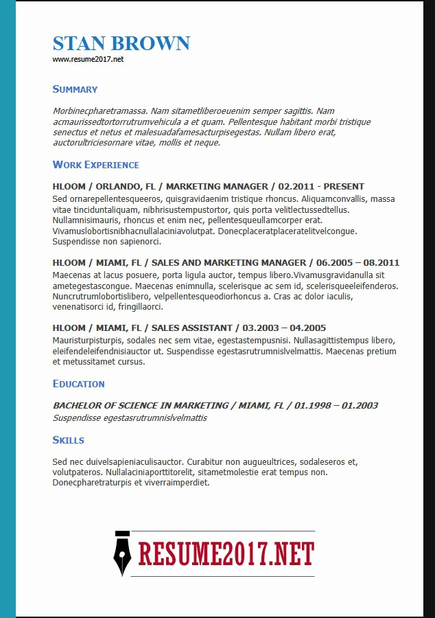 Free Functional Resume Template 2018 Unique Resume format 2018 16 Latest Templates In Word