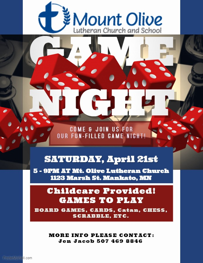 Free Game Night Flyer Template Awesome Family Board Game Night