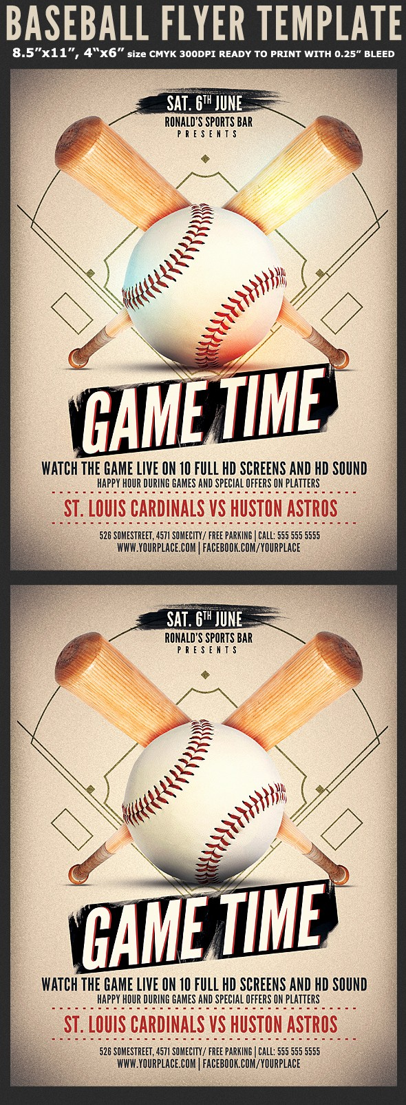 Free Game Night Flyer Template Best Of Baseball Game Flyer Template