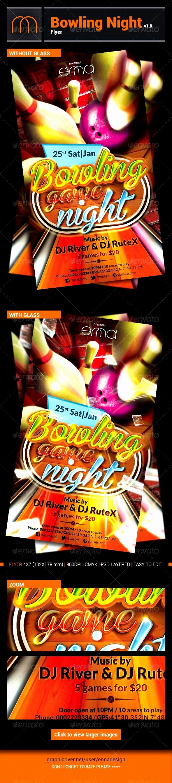 Free Game Night Flyer Template Best Of Bowling Flyer Template Free Mughals
