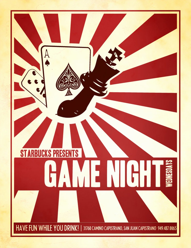 Starbucks Game Night Flyer