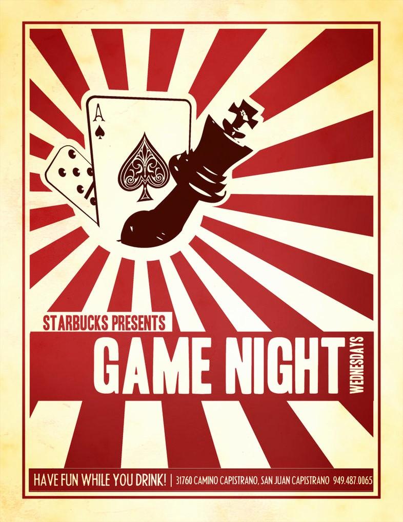 Starbucks Game Night Flyer