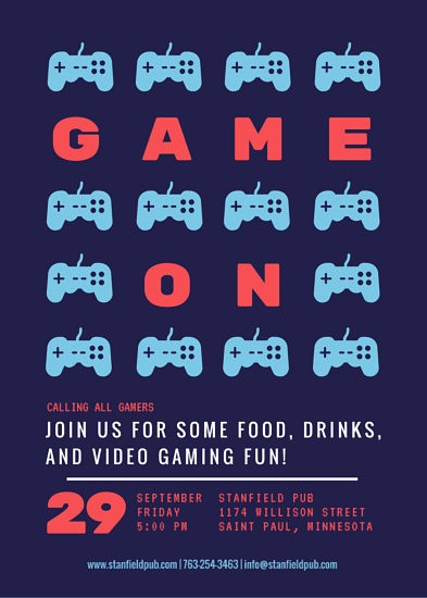 Free Game Night Flyer Template Elegant Video Game Night Party Flyer Templates by Canva