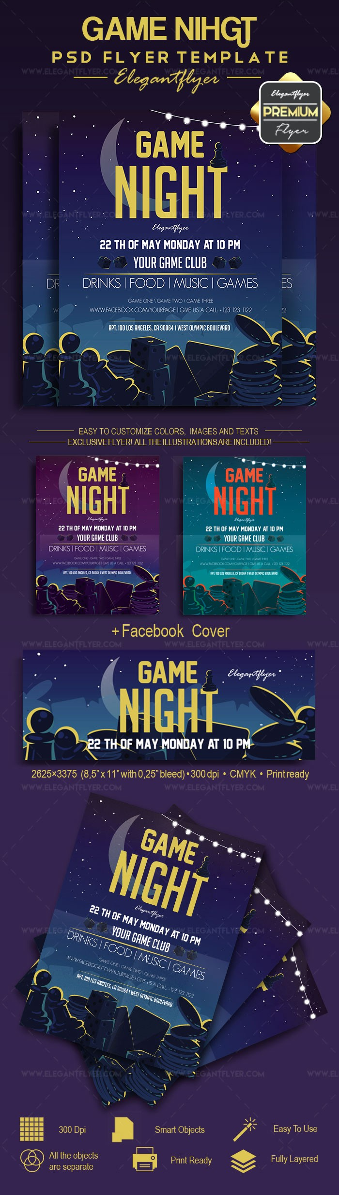 Free Game Night Flyer Template Inspirational Game Night – Flyer Psd Template – by Elegantflyer