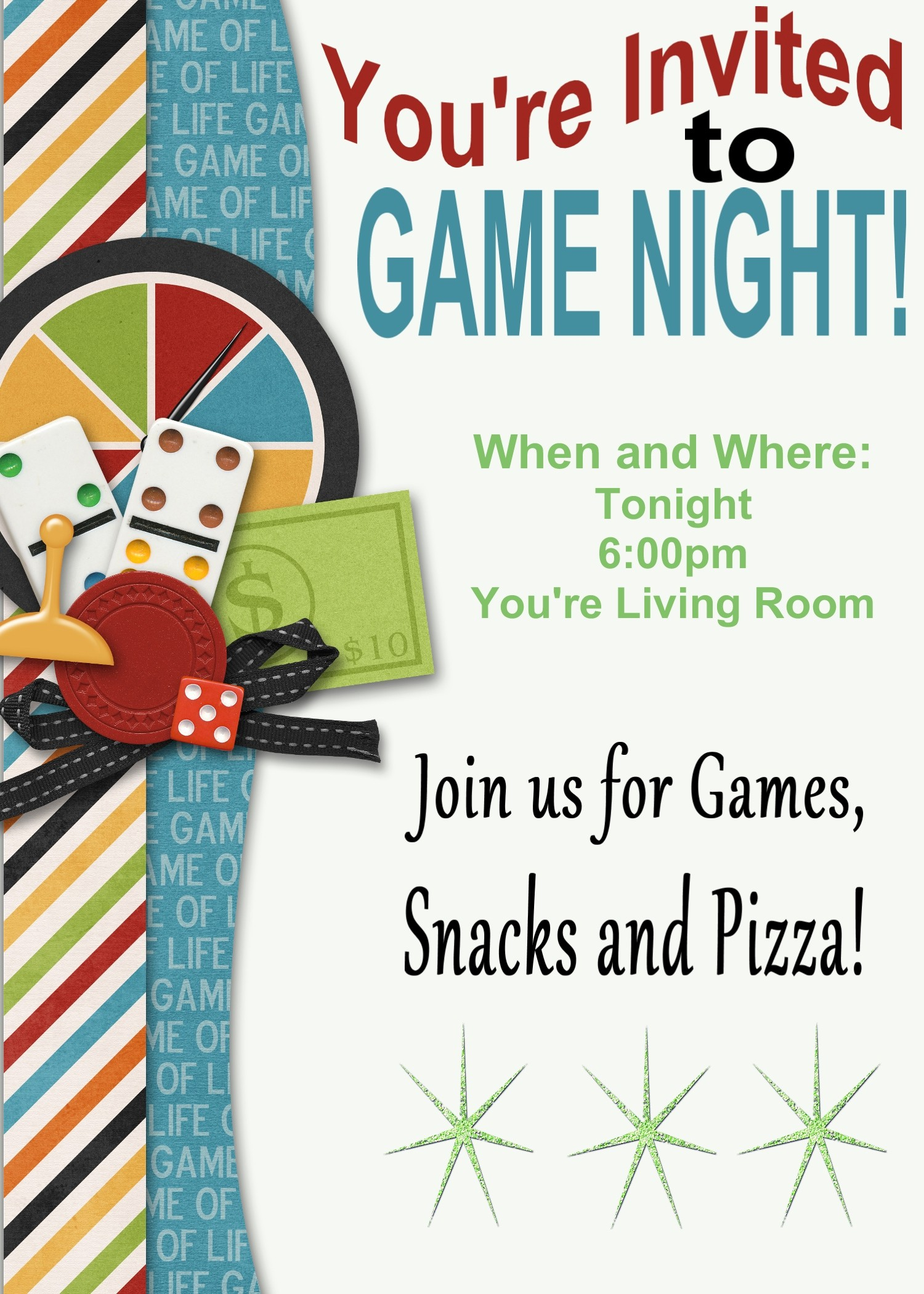 Free Game Night Flyer Template Lovely Game Night Printable Invitation and Game Review