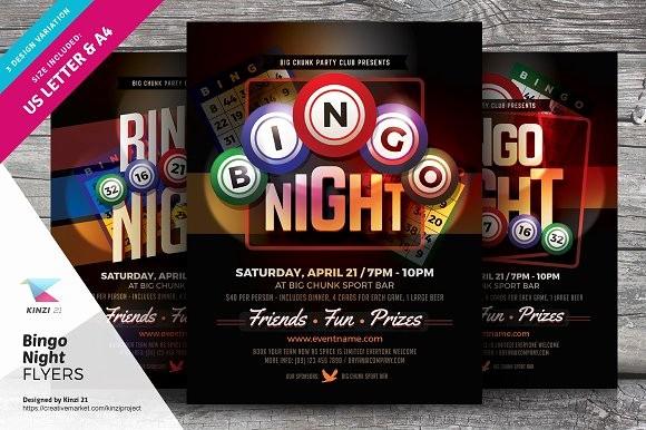 Free Game Night Flyer Template Luxury Bingo Night Flyer Templates Flyer Templates On Creative