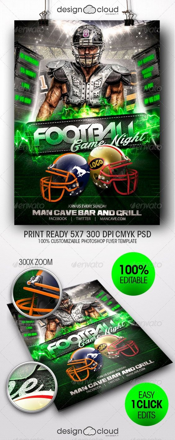 Free Game Night Flyer Template Luxury Fields Football and Flyer Template On Pinterest