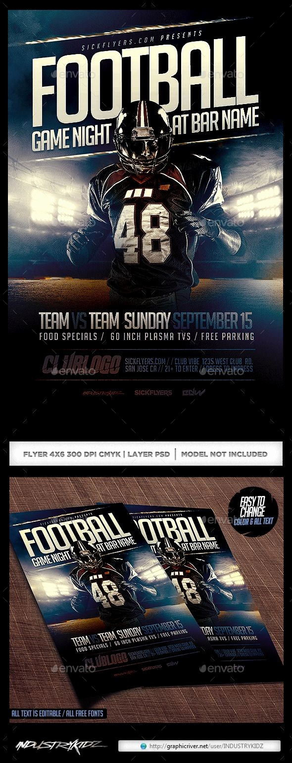 Free Game Night Flyer Template Luxury Football Game Night Flyer Template Psd