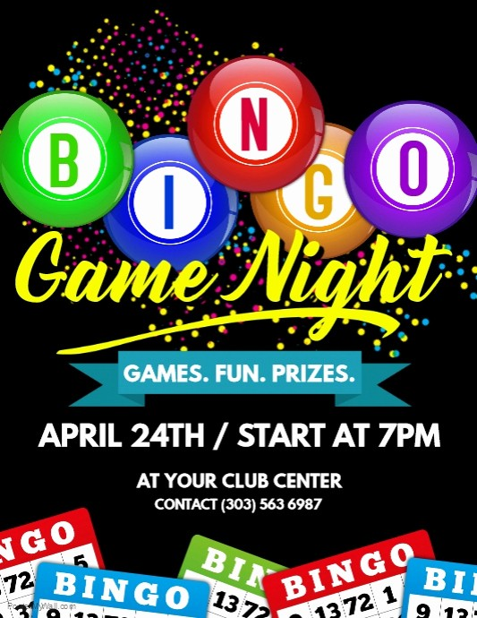 Free Game Night Flyer Template New Bingo Game Night Flyer Template