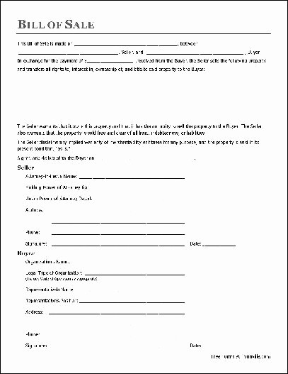Free Generic Bill Of Sale Best Of Free Printable Bill Sale form form Generic