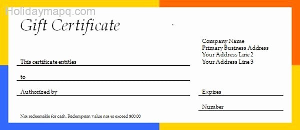 Free Gift Card Template Download Beautiful Free T Certificate Template Holidaymapq
