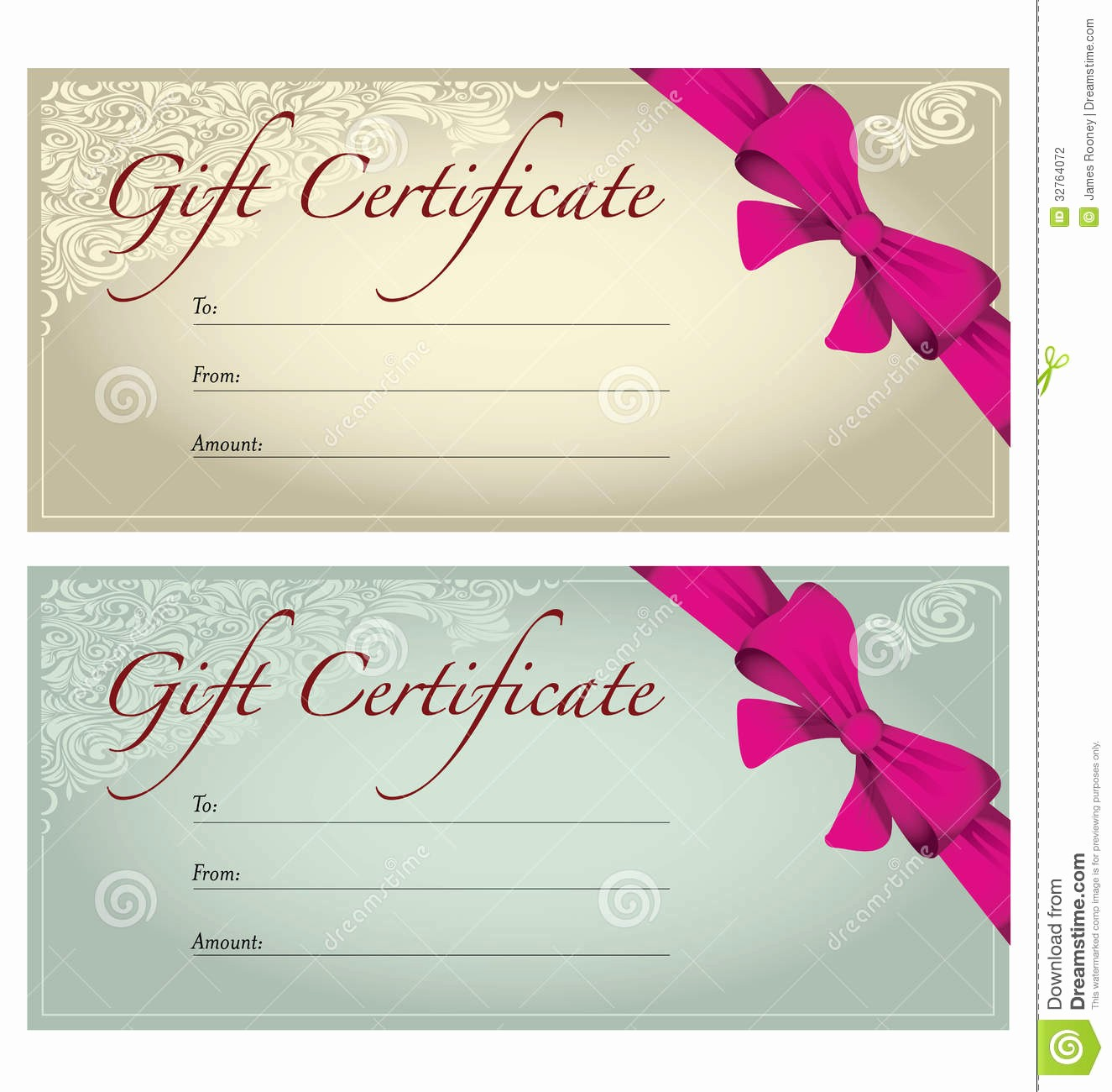 Free Gift Card Template Download Elegant Gift Certificate Template