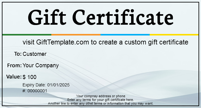 Free Gift Card Template Download Elegant Gift Certificate Templates
