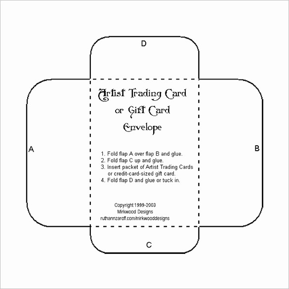 Free Gift Card Template Download Inspirational 10 Gift Card Envelope Templates Free Printable Word