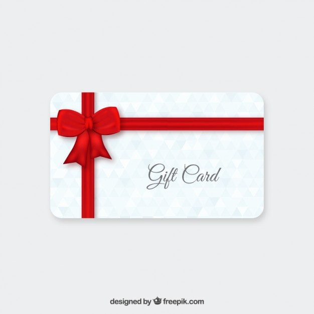Free Gift Card Template Download Inspirational Gift Card with Red Ribbon Vector