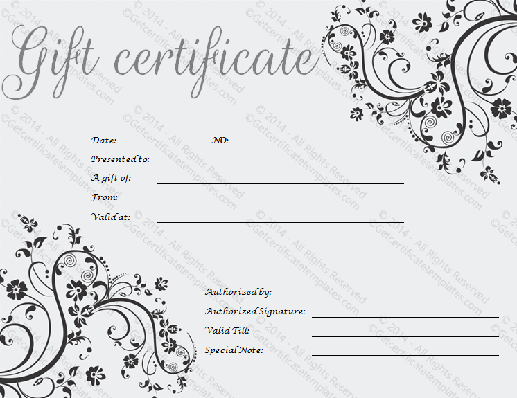 Free Gift Card Template Download Inspirational Gift Certificate Template