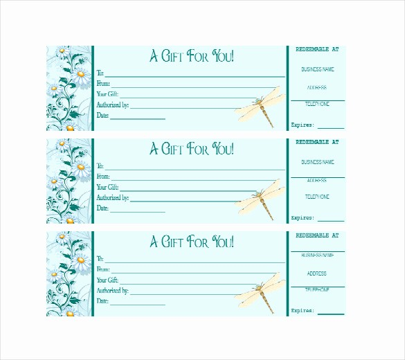 Free Gift Card Template Download Lovely Business Gift Certificate Template – 11 Free Word Pdf