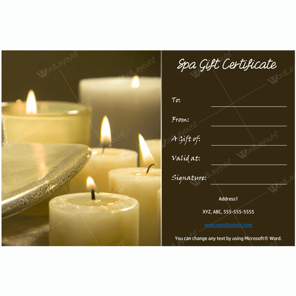 Free Gift Card Template Word Beautiful Bring In Clients with Spa Gift Certificate Templates