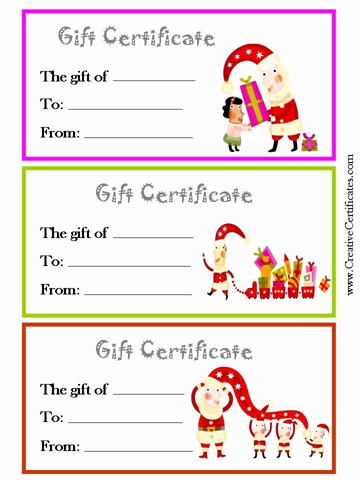 Free Gift Card Template Word Inspirational Christmas Certificates Templates Free Invitation Template